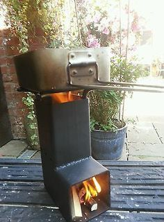 Mini Portable Rocket Stove woodgas cooker