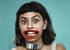 A Bizarre Mouth Piece That Forces A Teeth-Baring Grin Onto Its User's Face - DesignTAXI.com