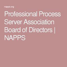 Professional Process Server Association Board of Directors | NAPPS