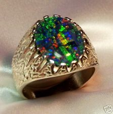 Mens Opal Ring 14k Gold Opal rings Opals and Bright colours