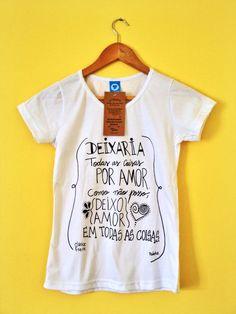 Camisa Feminina Amor em todas as coisas Branca - Lojinha Pó de Lua