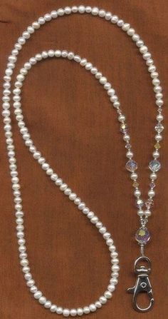 Pearl Lanyard ~ N's Note: A good use for all of those faux pearls I have!