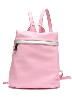 Pink Zipper PU Backpacks 32.67
