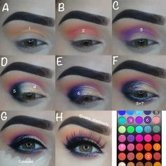 Fun, colorful shadows! Eyekandy glitter was used in this look, are you #bold enough to try it out? Pick up your glitters at The Makeup Club to give it a try! $7.50