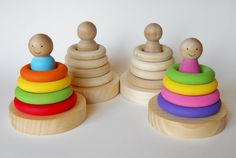 Lot's Of Beautiful Item's  Baby's First Stacking Toy Stacker Waldorf by 2HeartsDesire on Etsy