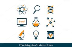 Chemistry and science icons set by Teneresa on @creativemarket