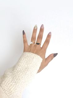 Gold Silver Plated Semicircle White / Jet (Black) Marble Ring / Stackable Rings by arassijewelry on Etsy Black Marble, Stackable Rings, Fingerless Gloves, Arm Warmers, Silver Plate, Jet, Gold, Gifts, Jewelry