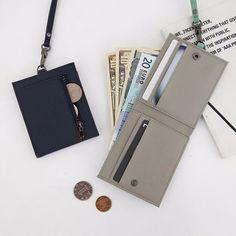 Office & School Supplies Trend Mark Fashion Leather Id Badge Card Holder Korea Lanyard Necklace Zipper Card Case Business Card Holder Organizer Office Bank Wallet