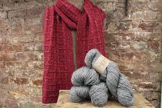 His (Birthday) Scarf by Monika Steinbauer knit in Burgundy Plymouth Yarn, Tweed, Burgundy, Knitting, Birthday, Fashion, Moda, Tricot, Cast On Knitting