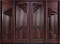 Wood Exterior Front Doors with Custom Entrance Door Design