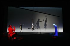 """A scene from Robert Wilson's production of """"Quartett,"""" Heiner Müller's version of Choderlos de Laclos's 18th-century novel """"Les Liaisons Dangereuses."""" The show was staged at the Brooklyn Academy of Music's Harvey Theater in 2009. Photo: Richard Termine for the NYT."""