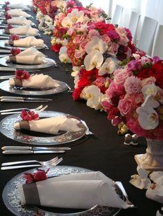 Preston Bailey flower table setting #WeddingPlanning #Tablescapes #Receptions