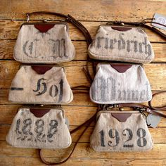 Yep, pretty sure one of these has my name on it. A selection of German Flour Sack Marlow Bags. www.tamarafogle.com Cute Purses, Purses And Bags, Coffee Bean Sacks, Jersey Maxi, Feed Bags, Sack Bag, Boho Bags, Fashion Mode, Nylons