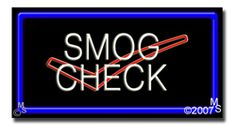 """Smog Check, Logo Neon Sign - 20"""" x 37""""-ANS1500-1268-R  37"""" Wide x 20"""" Tall x 3"""" Deep  Flashing Border """"ON/OFF"""" switch  Sign is mounted on an unbreakable black or clear Lexan backing  Top and bottom protective sides  110 volt U.L. listed transformer fits into a standard outlet  Hanging hardware & chain included  6' Power cord with standard transformer  For indoor use only  1 Year Warranty on electrical components."""