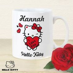 Personalised Hello Kitty Red Hearts Mug | Hello Kitty | Vivabop | http://www.vivabop.co.uk/products/personalised-hello-kitty-red-hearts-mug