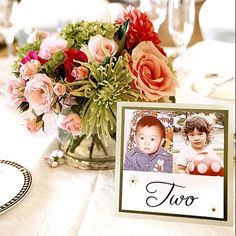 Table numbers...put a picture of the bride and groom at the age of the table number. What a cute idea!