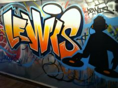 children / teen / Kids Bedroom Graffiti mural - #handpainted #graffiti #featurewall #design #graffitibedroom #interior #design #abstract #bedroommural #boysbedroom #bedroomideas #handpainted #bedroom #dj