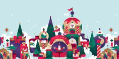 Christmas campaign illustrations for the Canadian shopping mall STC in Toronto. 2016 / Scarborough Town Centre