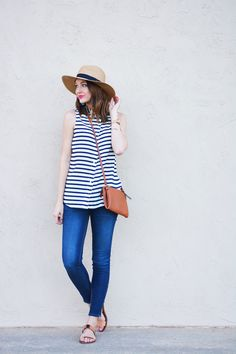 Street style tip of the day: Sleeveless stripes via @stylelist