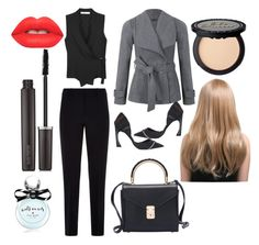 """""""New Office Outfit"""" by dafa-yuvi ❤ liked on Polyvore featuring beauty, Ally Fashion, Christian Dior, Armani Collezioni, Lime Crime, Laura Mercier and Kate Spade"""