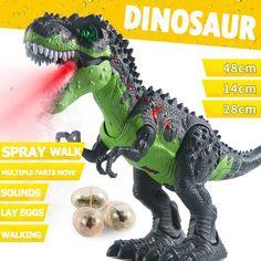Electric Walking Dinosaur Toys with Music Light Spray Large Size Walk Sounds Animals Model Toys for Children Cartoon Dinosaur, Dinosaur Funny, Dinosaur Costume, Dinosaur Toys, 5 Kids, Kids Toys, Children, Largest Dinosaur, Dinosaur Pattern