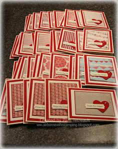 36  cards from one paper pad -- efficient use of paper!