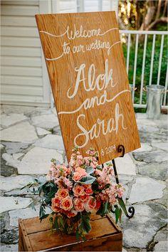 Welcome wedding sign @weddingchicks