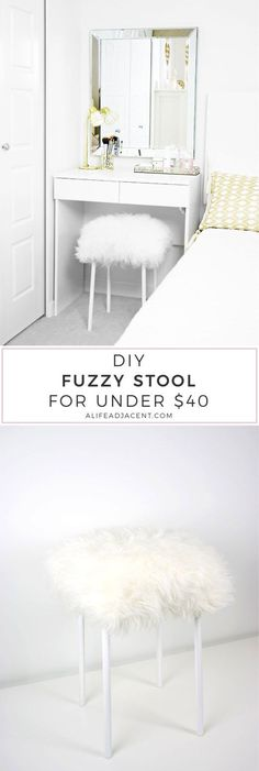 Brilliant 7 Best Fuzzy Stool Images Room Decor Furniture Fuzzy Stool Dailytribune Chair Design For Home Dailytribuneorg