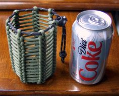 Make a woven paracord can holder using genuine GI 550 paracord. Check out our great selection of paracord at super low prices... http://www.osograndeknives.com/store/catalog/parachute-cord-311-1.html