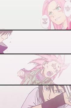 Sasuke fièr de sa petite Sakura !