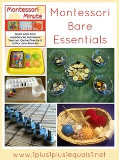 Montessori Bare Essentials ~ Guest post from John Bowman {author of Montessori at Home!} for 1+1+1=1