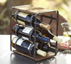 Estante Estilo Industrial para Botellas de Vino