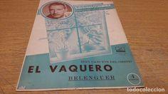 PARTITURA / EL VAQUERO ( FOX-CANCIÓN DEL OESTE ) M. BELENGUER. ED / COLUMBIA.