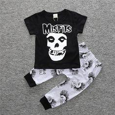 baby boy halloween punk style suit skull Skeleton pattern t-shirt+harem pants two-piece clothing set for kids boy child clothes Baby Boy Outfits, Kids Outfits, Two Piece Clothing Sets, Baby Boy Halloween, Korean Fashion Street Casual, Kids Boys, Baby Boys, Punk Fashion, Outfit Sets