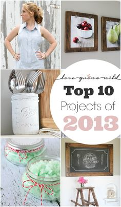 Top 10 Projects of 2013 - Love Grows Wild Reader Favorites! Check out the MOST POPULAR DIY projects from the past year!