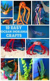 Easy Ocean Diorama Crafts For Kids Ocean Activities for Kids Ocean Projects, Science Projects, School Projects, Projects For Kids, Crafts For Kids, Science Experiments, Preschool Crafts, Diaroma Ideas, Ocean Diorama
