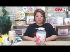 OPAPEL | Stencil | Pote de Vidro | Decoupage | Mayumi Takushi - YouTube