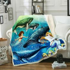 Cool Movie Horror Movie 3D Print Sherpa Blanket Sofa Couch Quilt Cover Throw