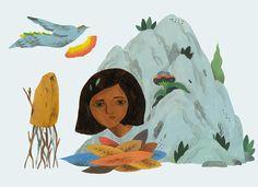 Illustration for newspaper # 3 by Inca Pan, via Behance