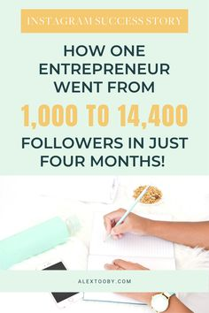 It can feel impossible to see Instagram growth or gain followers on Instagram but it doesn't have to be! This small business owner increased her following from 1000 to 14.4k in just four months using these Instagram growth tips! #instagramsuccesstips #instagramgrowth #gainfollowersoninstagram Instagram Marketing Tips, Instagram Tips, Affiliate Marketing, Content Marketing, Media Marketing, More Followers On Instagram, Gain Followers, Social Media Influencer, Blogging For Beginners