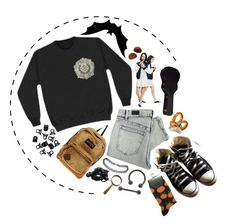 """""""With you"""" by dont-lookat-me ❤ liked on Polyvore featuring Converse, Laurèl, Cheap Monday, JanSport, H&M and Urbanears"""