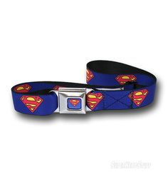 Superman Symbol Webbed Seatbelt Belt