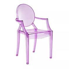 cadeira acrílica louis ghost - roxo transparente - inmetro