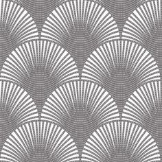 Ann Sacks Ermmarno Collection field tile Pavone pattern in silver on white