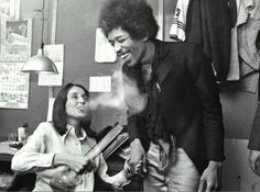 Joan Baez and Jimi Hendrix (and weed, I suppose)