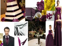 purple autumn wood : PANTONE WEDDING Styleboard : The Dessy Group
