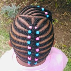 Hey parents, are you searching for cornrows for little girls. Try the braids, beads and some magnificient, patterns, styles and designs for the ebony kids. Toddler Braided Hairstyles, Toddler Braids, Lil Girl Hairstyles, Old Hairstyles, Black Kids Hairstyles, Natural Hairstyles For Kids, Trending Hairstyles, Blonde Hairstyles, Layered Hairstyles