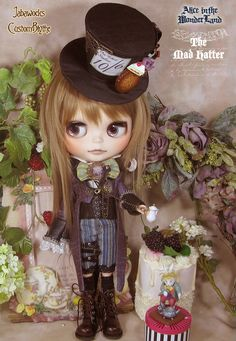 Blythe custom doll...the Mad Hatter~~ alice in the wonderland