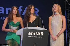 Stealing the limelight: She took to the stage to speak at amfAR's 22nd Cinema Against AIDS Gala