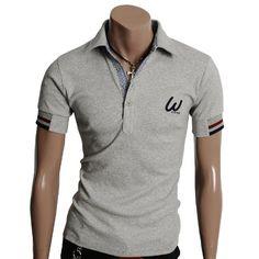 Doublju Mens Casual short Sleeve Point Polo T-shirt « Shirt Add
